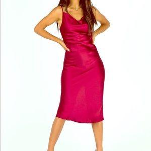 Betta Vanore Midi Dress Burgundy